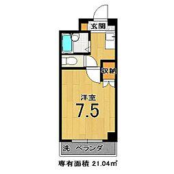 モンエスト東福寺[111号室]の間取り