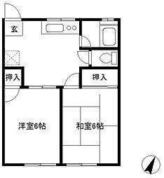 ハイツカワバタI[101号室]の間取り