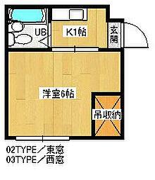 ハイツみやび[2階]の間取り