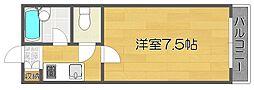 アベニュー西住之江[3階]の間取り