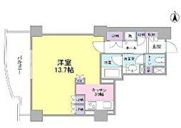 都営三田線 千石駅 徒歩4分の賃貸マンション 6階ワンルームの間取り
