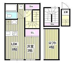 グランニール中野富士見町[3階]の間取り
