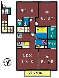 仮)レセンテ大和田新田[206号室]の間取り