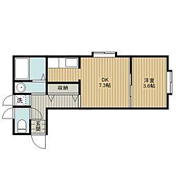 サクセスマンション[2階]の間取り