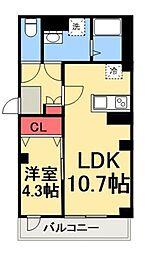 東京メトロ半蔵門線 住吉駅 徒歩10分の賃貸マンション 3階1LDKの間取り