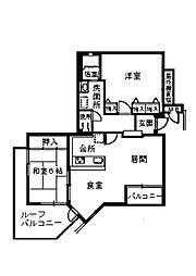 アジュール上野西[0302号室]の間取り