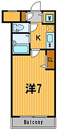 東京都大田区南蒲田3丁目の賃貸マンションの間取り