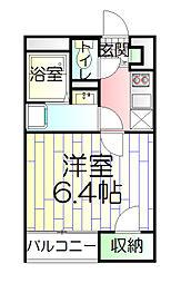 東京都足立区舎人5丁目の賃貸アパートの間取り