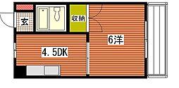 メゾン東雲I[4階]の間取り