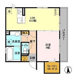仮)D-room原木1丁目[201号室]の間取り