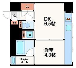 北浜コンソール[4階]の間取り