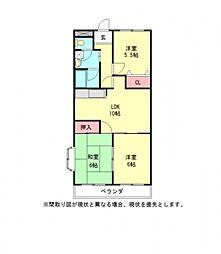 愛知県一宮市今伊勢町宮後字神戸の賃貸マンションの間取り
