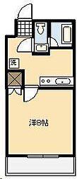 ライトハウス木原[201号室]の間取り
