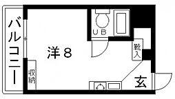 エバーグリーン上町台[6階]の間取り