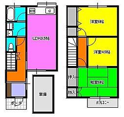 [テラスハウス] 神奈川県相模原市中央区並木3丁目 の賃貸【神奈川県 / 相模原市中央区】の間取り