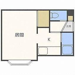 ノースヒルKN[1階]の間取り