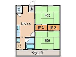 すみれマンションIII[1階]の間取り