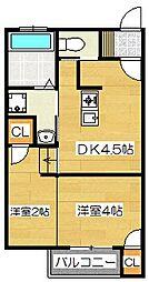 コンフォール石坂[1階]の間取り