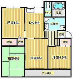 高倉台4団地15号棟[5階]の間取り