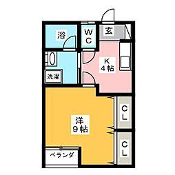 Myroom広瀬[2階]の間取り