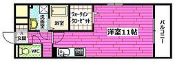 セジュール桃山[1階]の間取り
