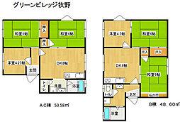 兵庫県多可郡多可町中区牧野の賃貸アパートの間取り