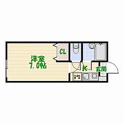 東京都葛飾区高砂6丁目の賃貸マンションの間取り