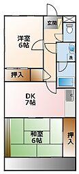 シャトー樋口[2階]の間取り