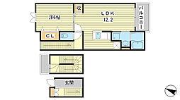 アマルフィ37[3階]の間取り