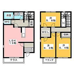 [テラスハウス] 静岡県浜松市西区雄踏町宇布見 の賃貸【/】の間取り