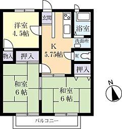 糸賀ハイツ 1階3DKの間取り