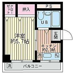 神奈川県横浜市西区宮崎町の賃貸マンションの間取り