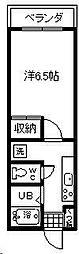 第2横山ビル[203号室]の間取り