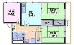 パルファンドKOGA[106号室]の間取り