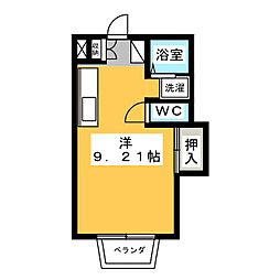 コーポグリーン[1階]の間取り