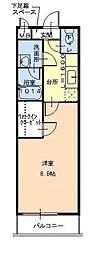 リバーサイド東久宝寺八番館[3階]の間取り