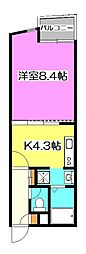 アート・フル所沢ヒルズ[4階]の間取り