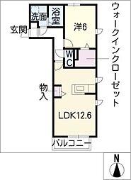 ヘーベルコートTN[2階]の間取り