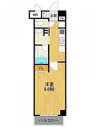 兵庫県西宮市与古道町の賃貸マンションの間取り