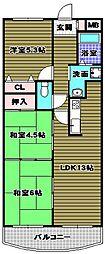 ディオフェルティ千代田錦織公園壱番館[7階]の間取り