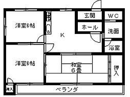 アパートメント1040A[102号室]の間取り