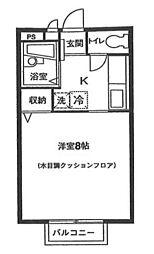 東京都大田区大森南1丁目の賃貸アパートの間取り