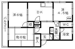 西ヶ崎グリーンハイツII[205号室]の間取り