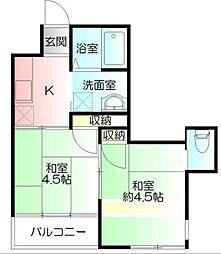 神奈川県横浜市南区中村町3丁目の賃貸マンションの間取り