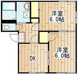 神奈川県相模原市南区文京1丁目の賃貸アパートの間取り