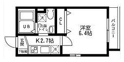 神奈川県横浜市磯子区田中2の賃貸アパートの間取り