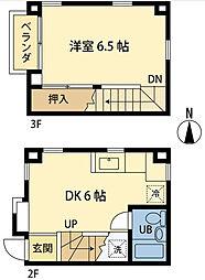 オオギハウス3[0203号室]の間取り