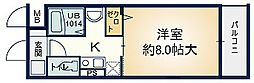 大阪府枚方市中宮東之町の賃貸マンションの間取り