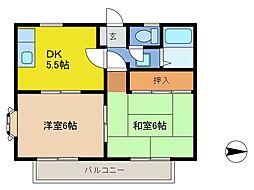 メゾンド・ソレイユ[2階]の間取り