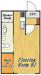 クレール3[1階]の間取り